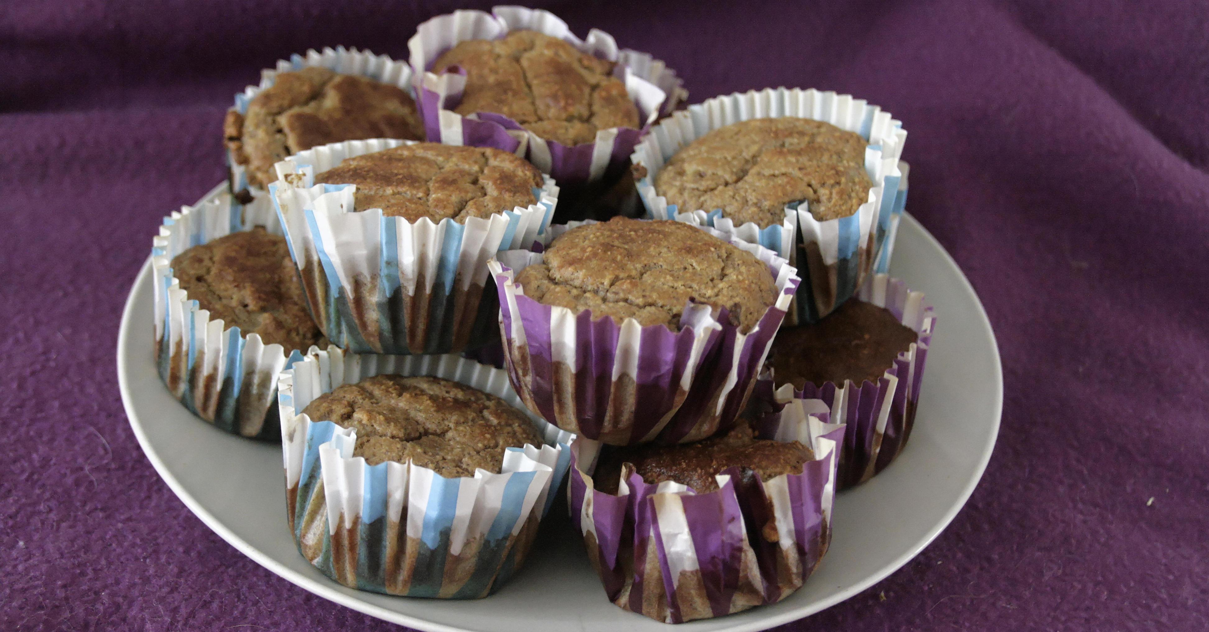 Muffinki z mąki orzechowej (bez mąki i cukru)