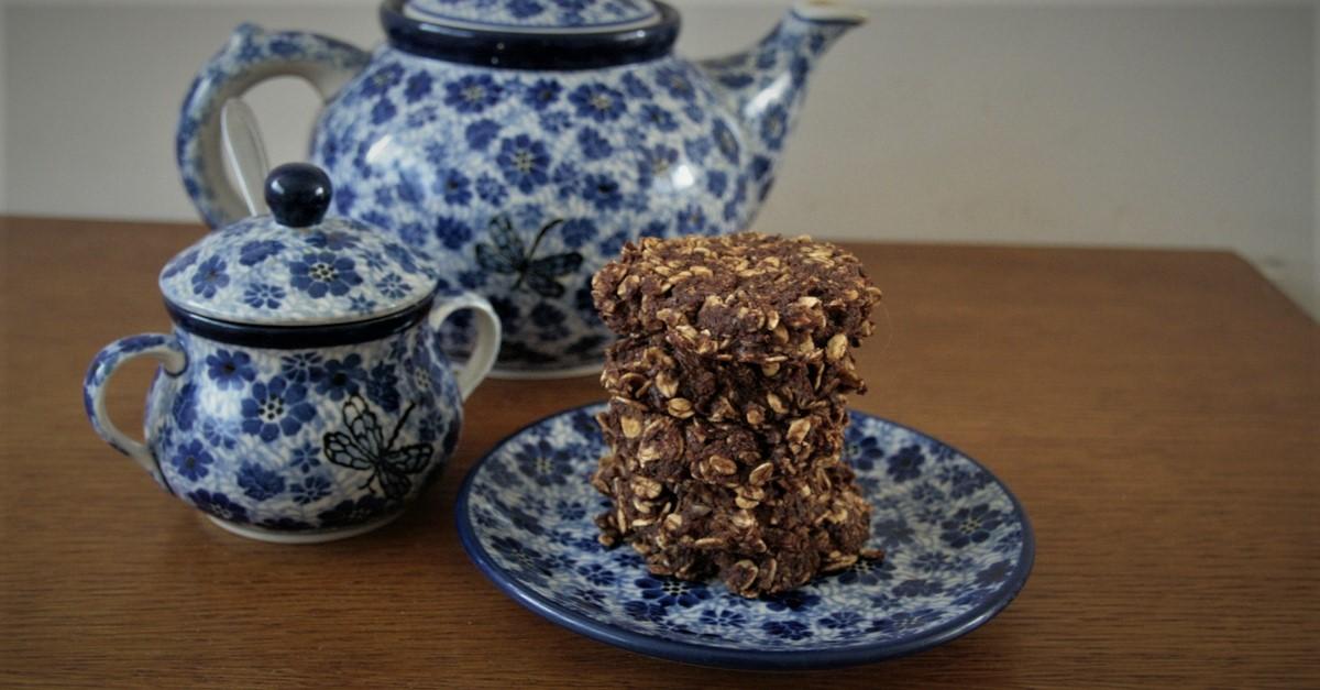 Kakaowo-marchewkowe ciastka owsiane
