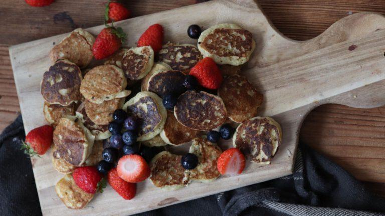 Wegańskie, bezglutenowe minipancakes