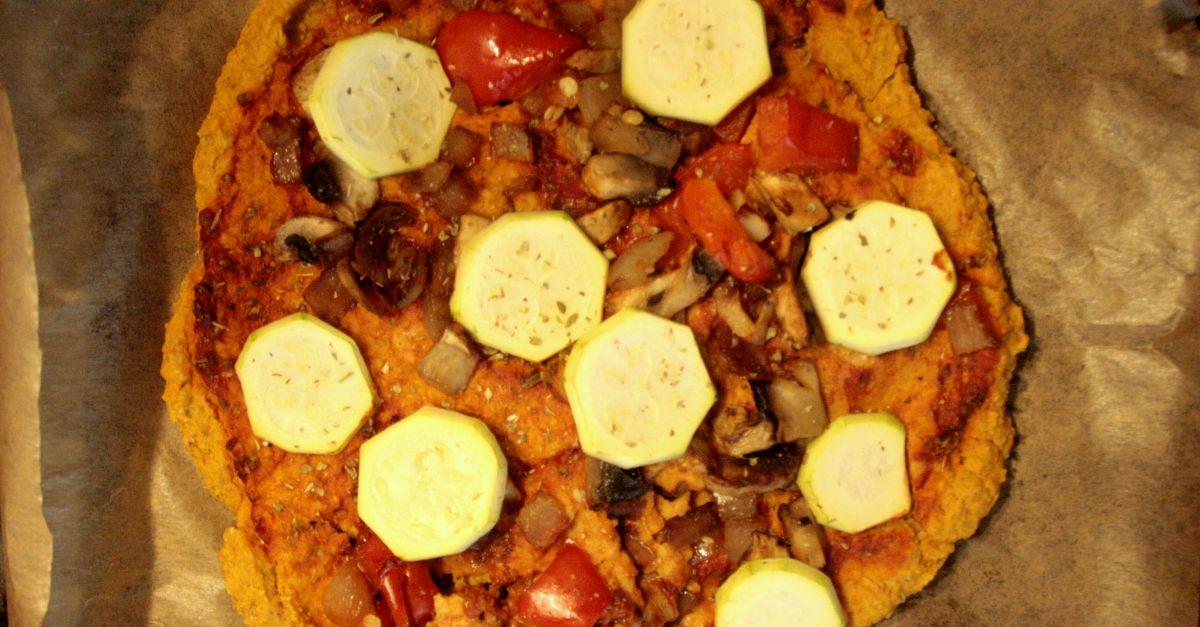 Trzyskładnikowa pizza z batata