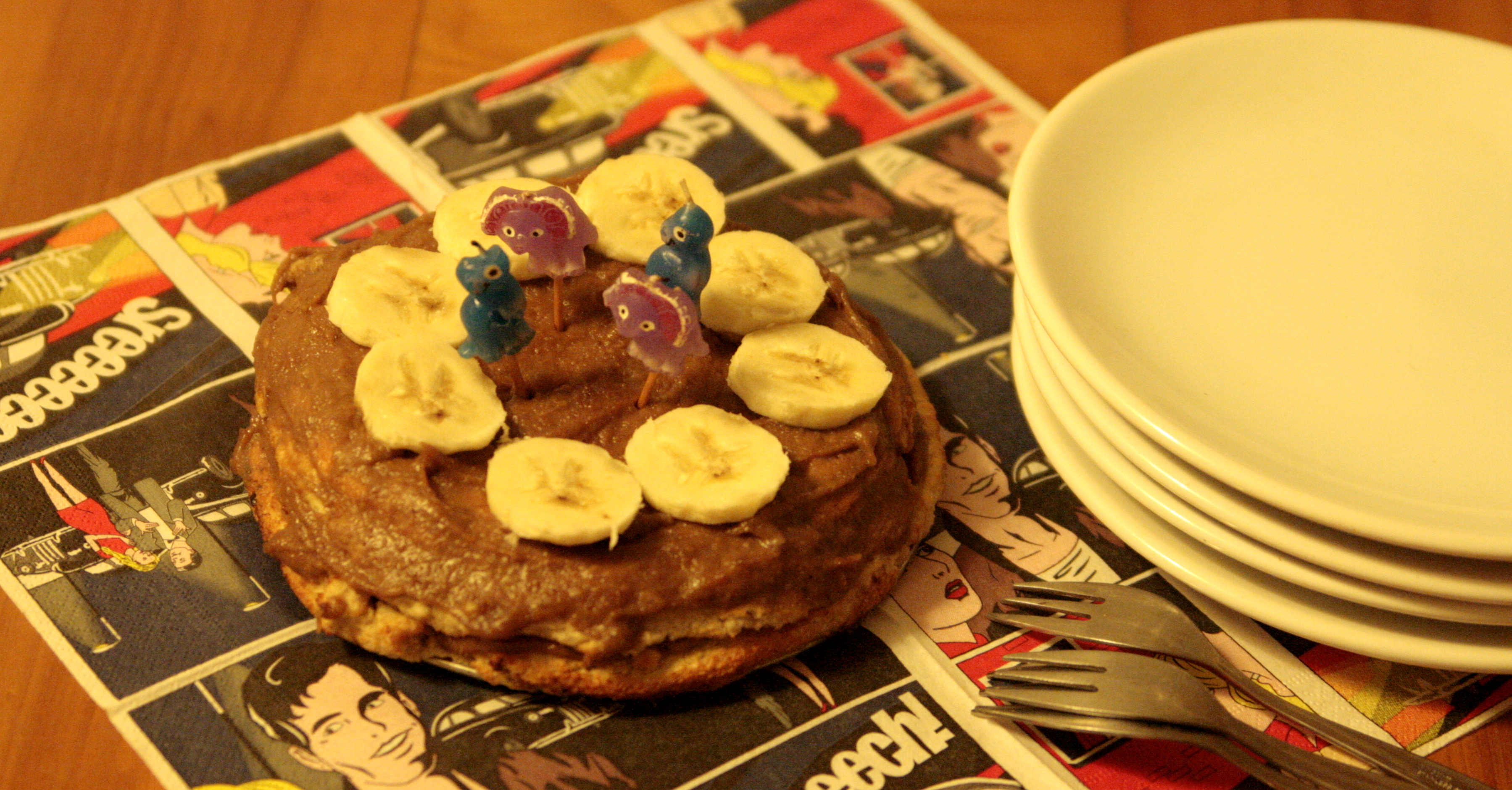 Tort bananowy (bez cukru i glutenu)