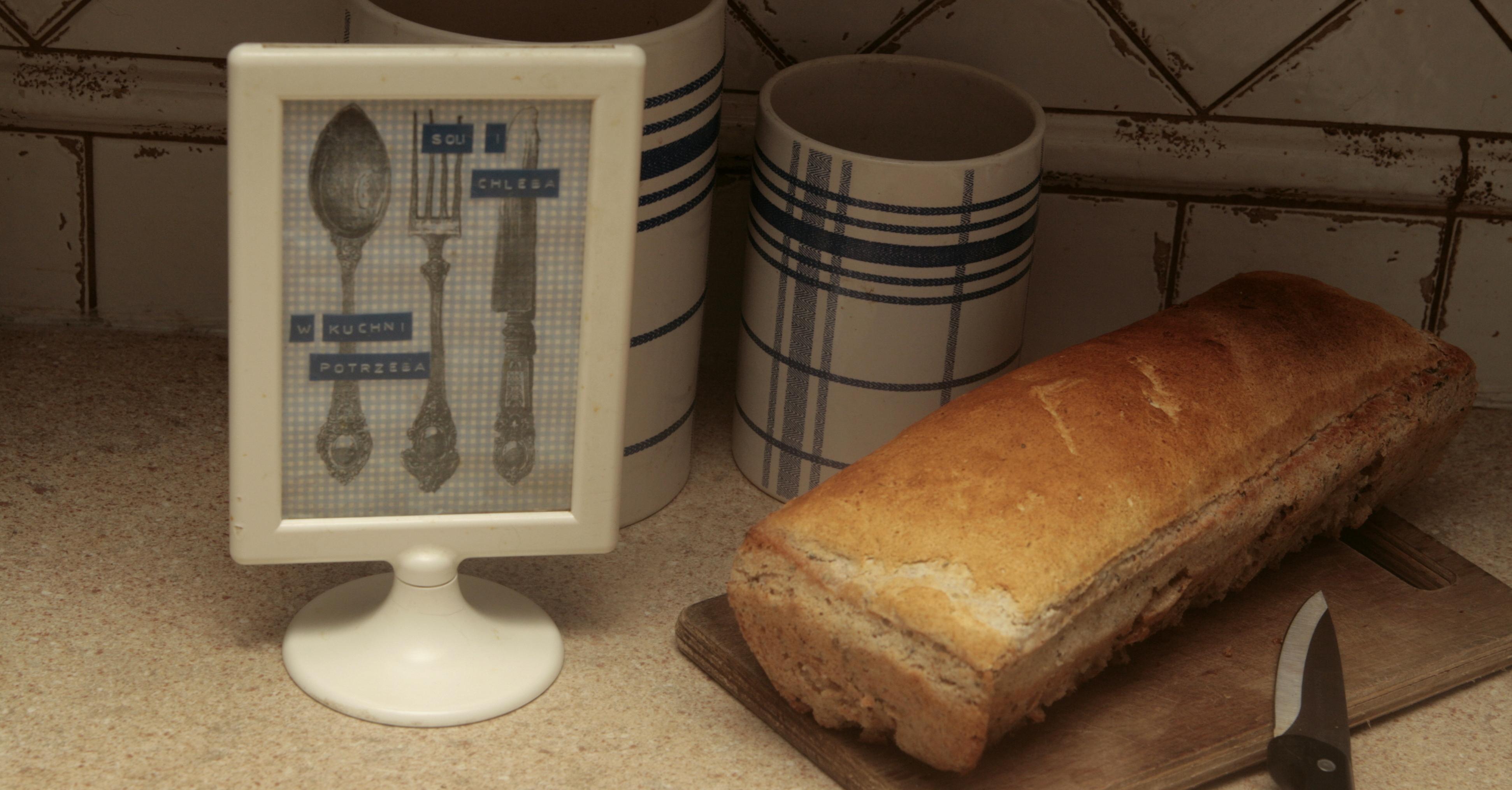 Chleb gryczany z wodą z ogórków kiszonych i czarnuszką