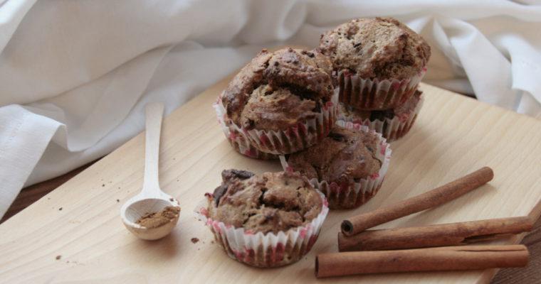 Piernikowe muffinki z czekoladą