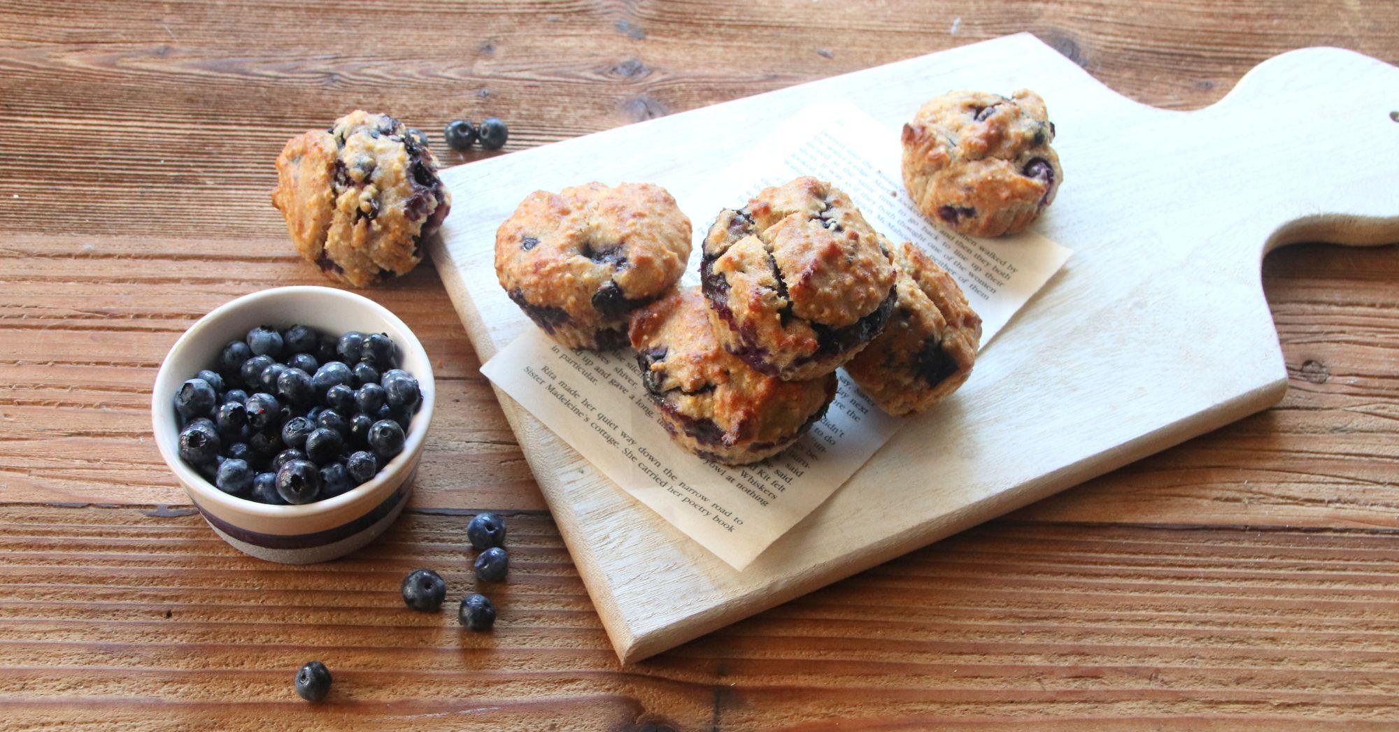 Muffiny z borówkami bez cukru