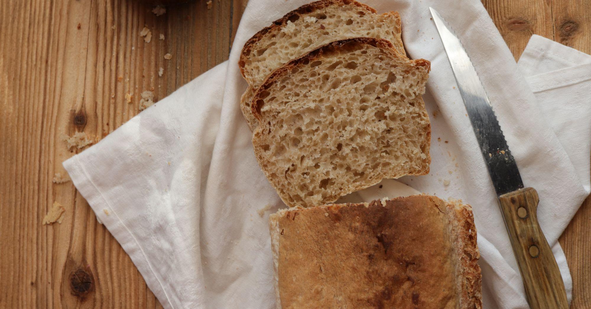 Pszenno-żytni chleb farmerski (ulubiony chleb mojego męża)