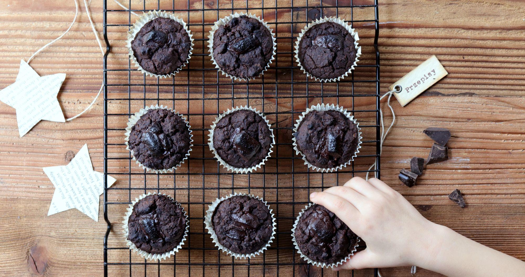 Muffiny z czerwoną fasolą