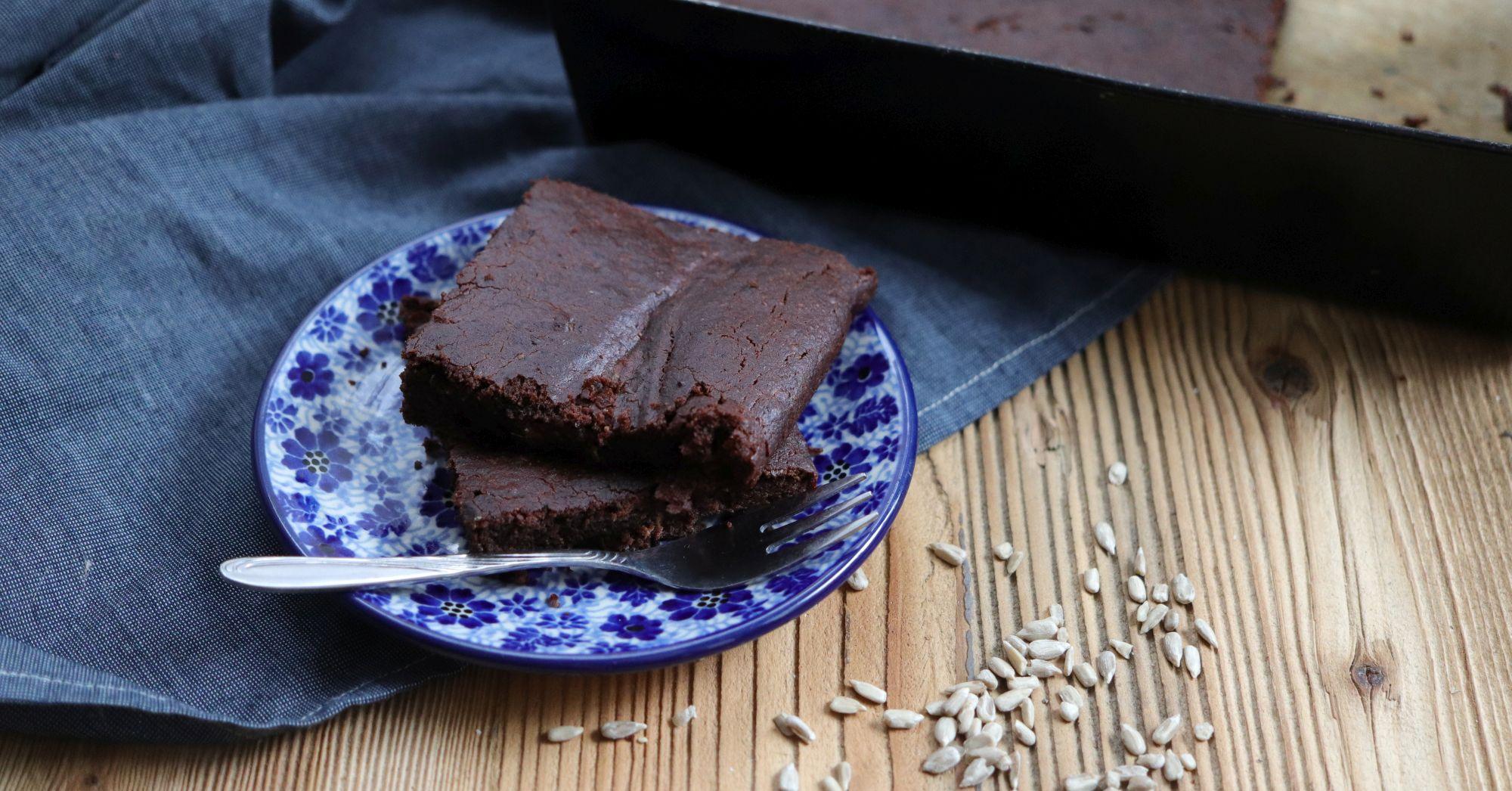 Wegańskie i bezglutenowe brownie z batata