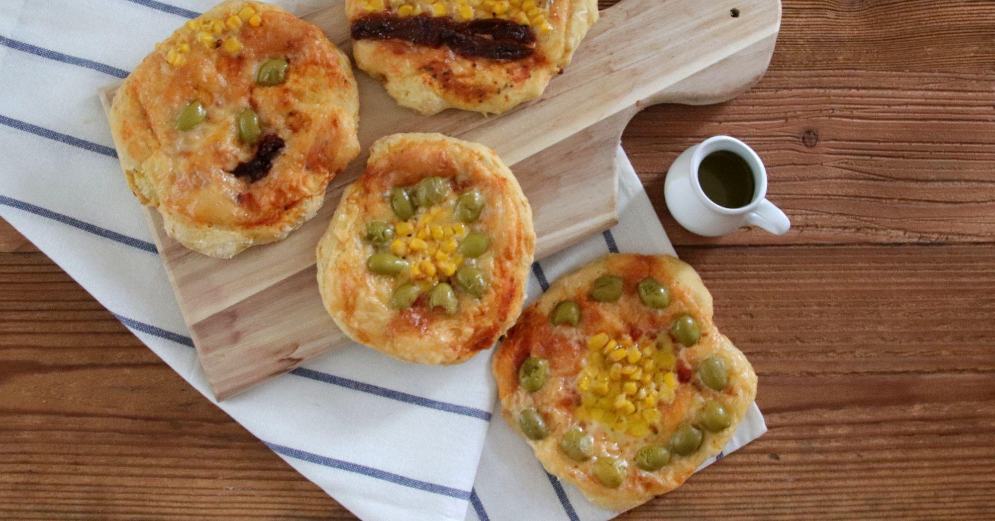 Mini pizze z marchewką