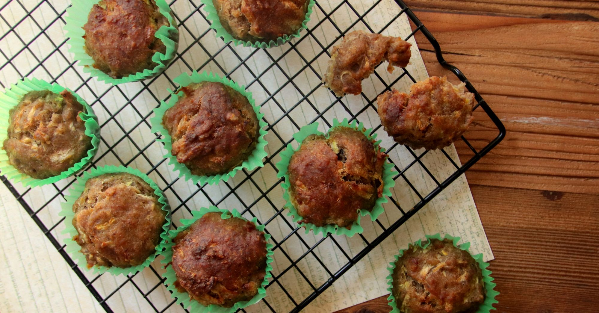 Wegańskie muffiny bananowo-cukiniowe