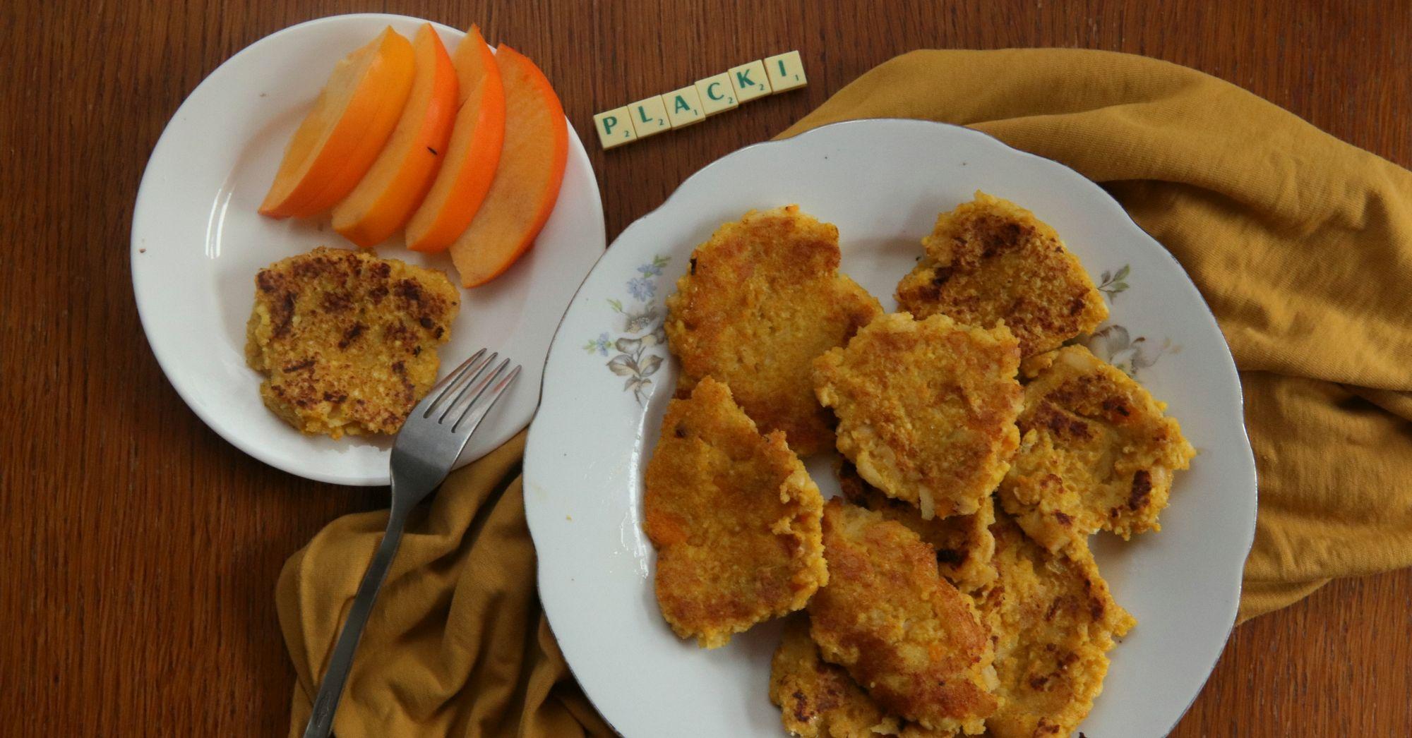 Placki jaglano-dyniowe z jabłkiem