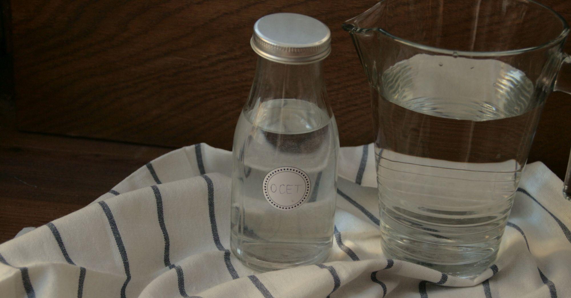 Co możemy umyć za pomocą wody i octu?