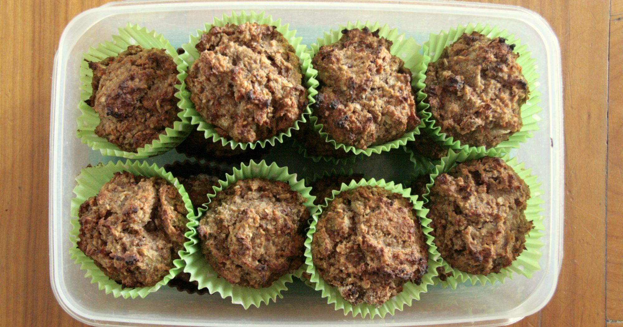 Muffiny cukiniowo – marchewkowe (bez cukru i nabiału)