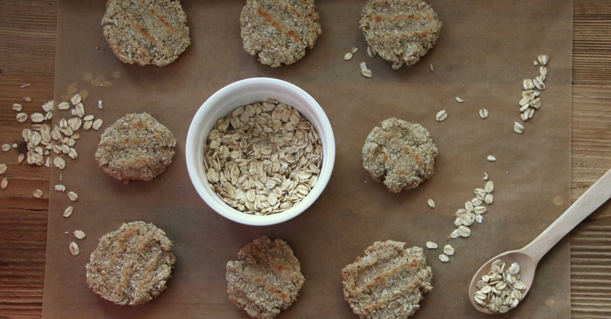 Wegańskie ciastka kokosowo-owsiane