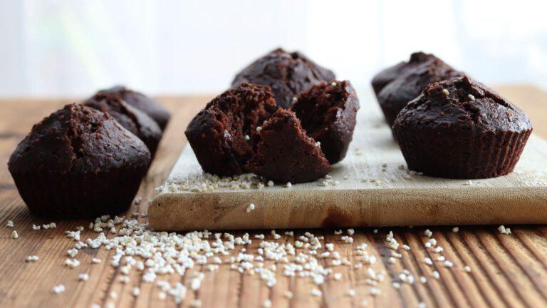 Wegańskie muffiny czekoladowe z amarantusem
